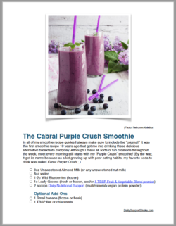 Dr. Cabral's Smoothie Recipe Guide